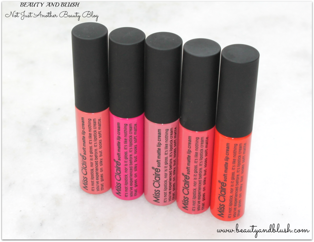 Miss Claire Soft Matte Lip Creams Review and Swatches