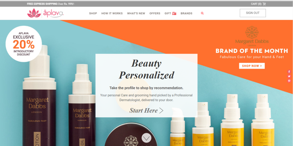 Personalized Beauty Shopping with Aplava.com