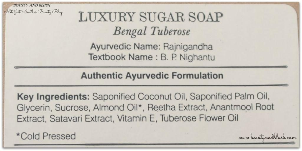 Forest Essentials Luxury Sugar Soap Bengal Tuberose Review