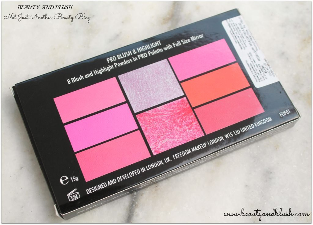 Freedom Pro Blush and Highlight Palette Pink and Baked